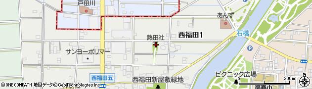 熱田社周辺の地図