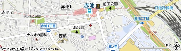 愛知県日進市赤池町(前田)周辺の地図