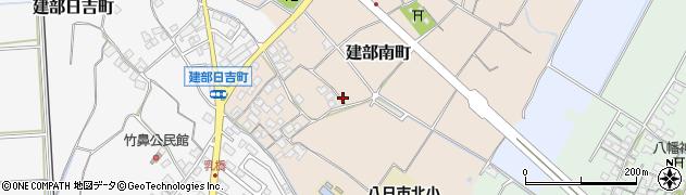 滋賀県東近江市建部南町周辺の地図