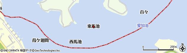 愛知県日進市米野木町(東馬池)周辺の地図