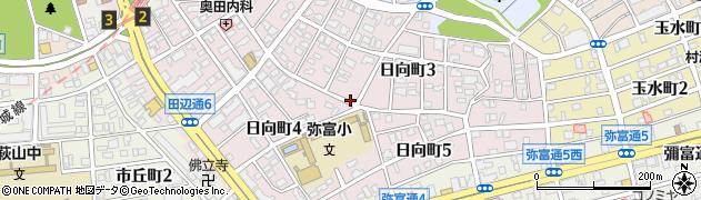 愛知県名古屋市瑞穂区日向町周辺の地図