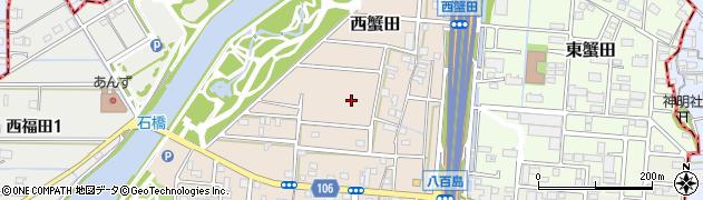 愛知県名古屋市港区西蟹田周辺の地図