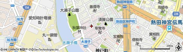 愛知県名古屋市熱田区大瀬子町周辺の地図