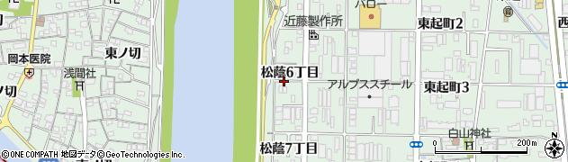 愛知県名古屋市中川区下之一色町(松蔭6丁目)周辺の地図