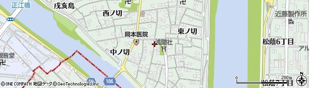 愛知県名古屋市中川区下之一色町周辺の地図