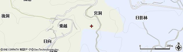 愛知県豊田市有洞町(宮洞)周辺の地図