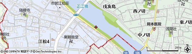 愛知県名古屋市中川区富田町大字江松(南大縄場)周辺の地図