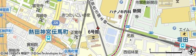 愛知県名古屋市熱田区新宮坂町周辺の地図