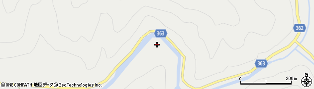 京都府京都市右京区京北細野町(中山)周辺の地図