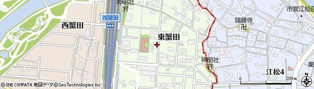 愛知県名古屋市港区東蟹田周辺の地図