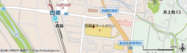 愛知県豊田市四郷町周辺の地図