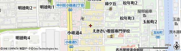 愛知県名古屋市中川区昭明町周辺の地図