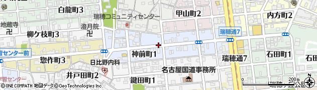 愛知県名古屋市瑞穂区神前町周辺の地図