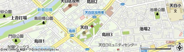 島田神社周辺の地図