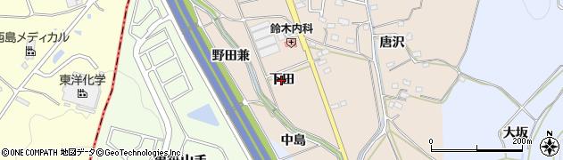 愛知県みよし市黒笹町(下田)周辺の地図