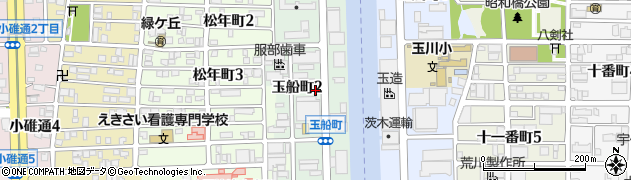 愛知県名古屋市中川区玉船町周辺の地図
