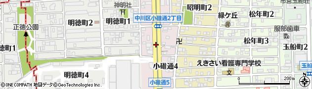 愛知県名古屋市中川区小碓通周辺の地図