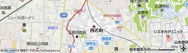 静岡県三島市西若町周辺の地図