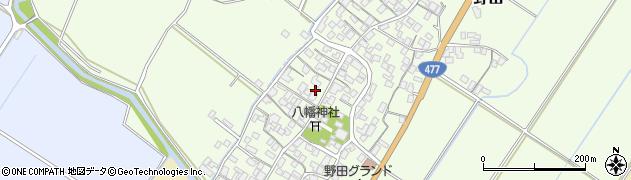 滋賀県野洲市野田周辺の地図