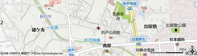 愛知県日進市折戸町(前田)周辺の地図