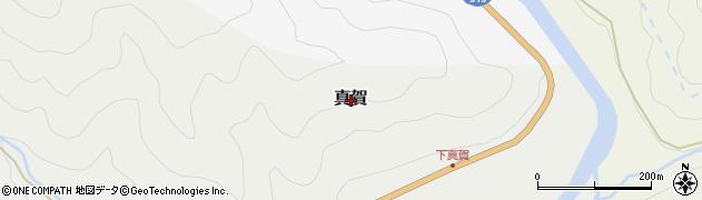 岡山県真庭市真賀周辺の地図