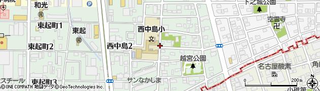 愛知県名古屋市中川区西中島周辺の地図