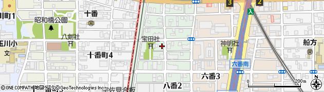愛知県名古屋市熱田区八番周辺の地図