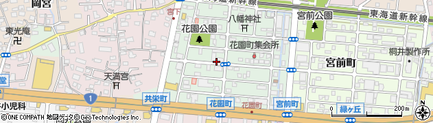 静岡県沼津市花園町周辺の地図