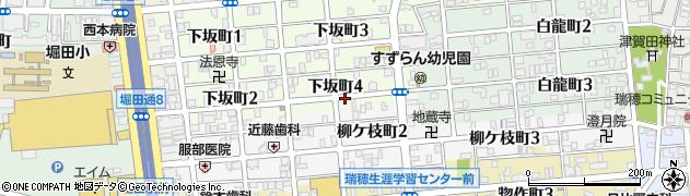 どじょ鎌周辺の地図