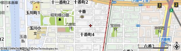 愛知県名古屋市中川区十番町周辺の地図