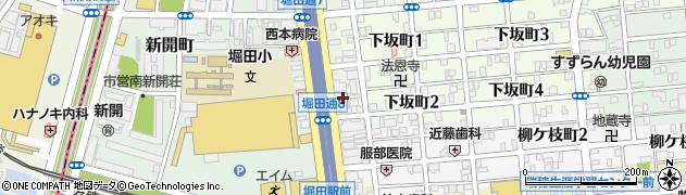侘助周辺の地図