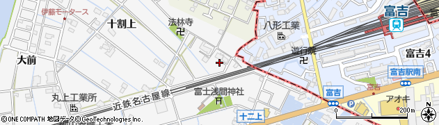 愛知県愛西市善太新田町(十一上)周辺の地図