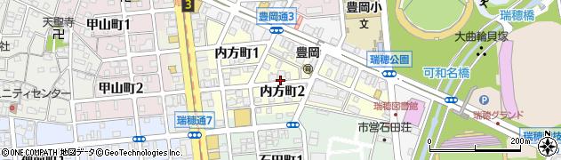 愛知県名古屋市瑞穂区内方町周辺の地図