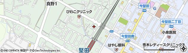 滋賀県大津市真野周辺の地図