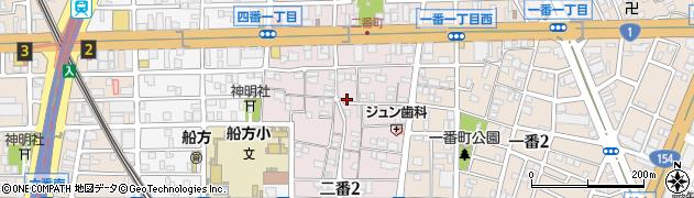 愛知県名古屋市熱田区二番周辺の地図