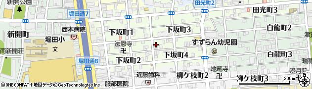 愛知県名古屋市瑞穂区下坂町周辺の地図