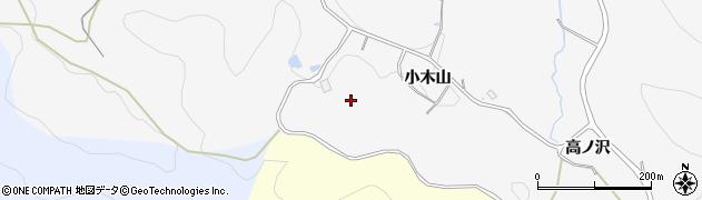 愛知県豊田市綾渡町(小木山)周辺の地図