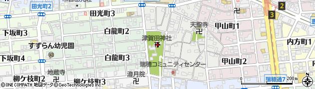 津賀田神社周辺の地図