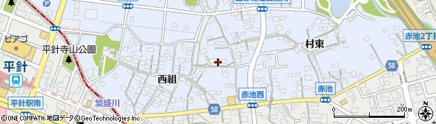 愛知県日進市赤池町(西組)周辺の地図
