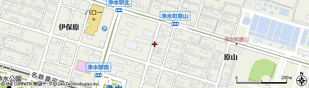 愛知県豊田市浄水町周辺の地図