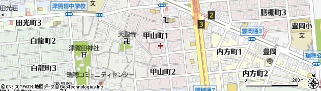 愛知県名古屋市瑞穂区甲山町周辺の地図