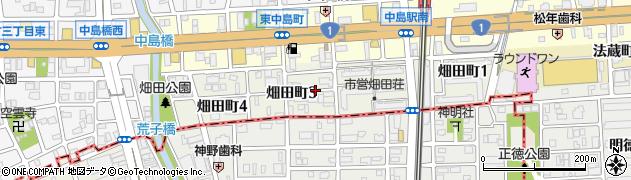 愛知県名古屋市中川区畑田町周辺の地図