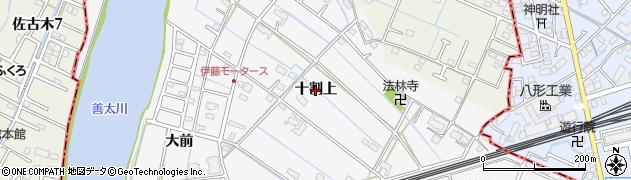 愛知県愛西市善太新田町(十割上)周辺の地図