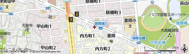 愛知県名古屋市瑞穂区豊岡通3丁目周辺の地図