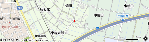 愛知県弥富市五之三町焼田周辺の地図