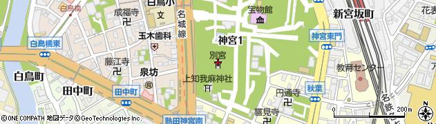 八剣宮周辺の地図