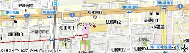 愛知県名古屋市中川区法蔵町周辺の地図