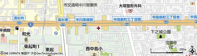あみやき亭 中川店周辺の地図