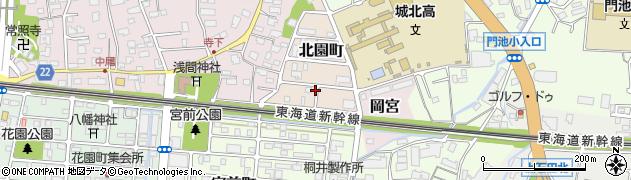 静岡県沼津市北園町周辺の地図
