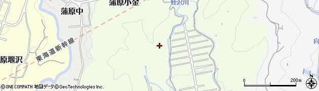 静岡県静岡市清水区蒲原小金周辺の地図